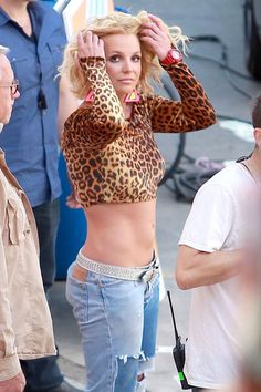 "Britney Spears appears on the set of Iggy Azalea's latest music video for her track ""Pretty Girls"""