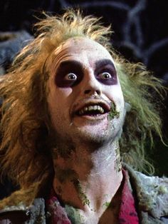"""Watching the classic """"Beetlejuice"""", 1988."""