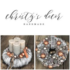 Winter Christmas, Christmas Time, Christmas Wreaths, Christmas Crafts, Advent Wreaths, Office Holiday Party, Holiday Parties, Christmas Table Decorations, Holiday Decor