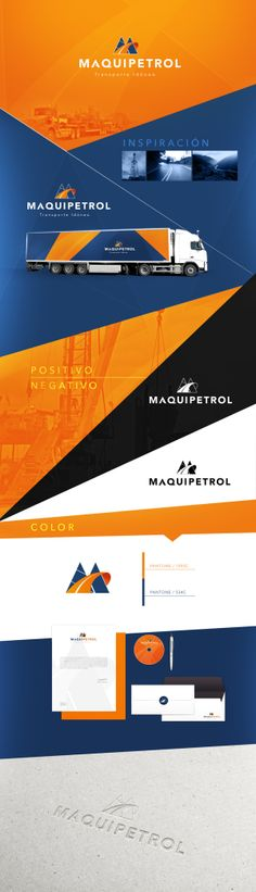 Identidad Corporativa Maquipetrol on Behance