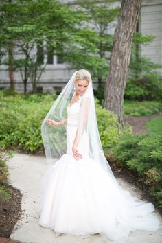 Outdoor Bridal Portrait from Heather Roth | photography by http://www.hsrphoto.com