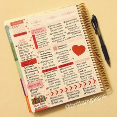 Simple Erin Condren Life Planner spread. #erincondren