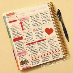 Simple Erin Condren Life Planner spread. #erincondren