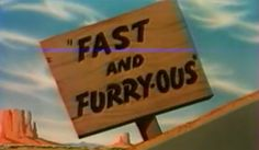 FYI: The First Road Runner And Wile E. Coyote Short Was Called 'Fast And Furry-ous' Road Runner, 4 Kids, Looney Tunes, Spirit Animal, The One, Cartoons, Animation, Friends, Celebrities