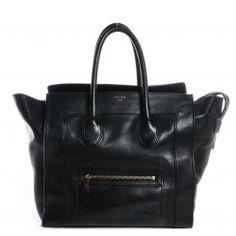 CELINE Smooth Calfskin Mini Luggage Black