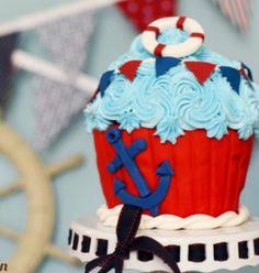 Cameron's nautical smash cake :)