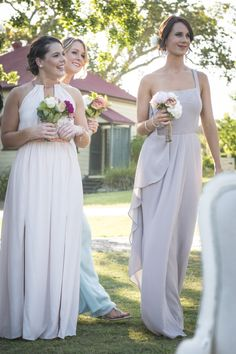 DIY Wedding Flowers with Unique Bridesmaid Dresses