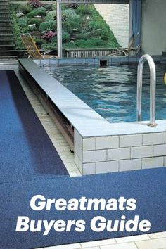 3-M Safety-Walk Wet Area Floor Matting is also super versatile, and it can be used virtually anywhere. However, it is a super effective anti slip mat for locker rooms, sauna areas, poolside, beneath water fountains, food and beverage areas, and general industrial settings where water could be present. Outdoor Swimming Pool, Swimming Pools, Pool Mat, Non Slip Flooring, Water Fountains, Beverage, Lockers, Tiles, Safety