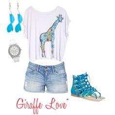 Giraffe Love*, created by amanda-jolena on Polyvore