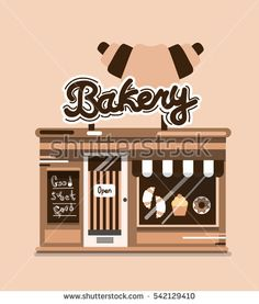 Vector modern shop detailed facade background in flat style #vector #illustration #flat #design #art #shop #store #cafe #cartoon #shutterstoke #creativemarket