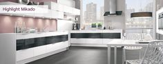 Homebase Highlight Kitchen with French Chrome Worktops