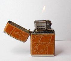 1950s Working Pocket Lighter Austria Made by VintageTobacciana