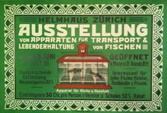 Ausstellung Helmhaus Fischtransportapparate – 1907
