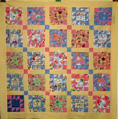 "Queen of the Kitchen quilt block 55"" x 55"" by Linda Rotz Miller"