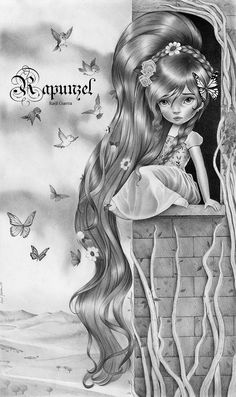 Girl in the Tower. Graphite on pencil.  Raul Guerra. ©