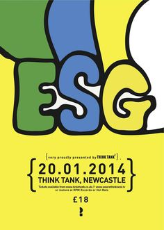 We're Very Excited to announce one of our Favourite All Time Bands ESG will play THINK TANK? in the New Year. All the way from New York City ESG hail out of ...