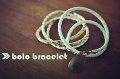 Lune Vintage: bolo bracelet. I have an idea for someone's Christmas present :)