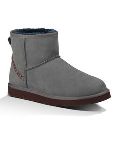 UGG® Australia Gray & Navy Classic Mini Deco Suede Boots - Men by UGG®