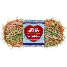 Red Heart Scrubby Yarn-Citrus