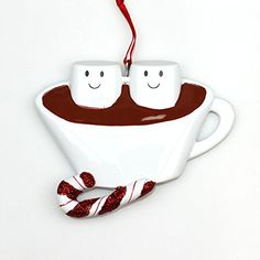 Personalized Christmas Ornament HOT CHOCOLATE FAMILY COUPLE * Want to know more, click on the image.