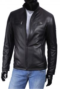 Kurtka skórzana męska DORJAN CM ARO450 Men's Leather Jacket, Men's Wardrobe, Bomber Jacket, Model, Jackets, Collection, Fashion, Down Jackets, Moda