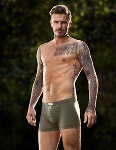 Behind the Scenes: David Beckham in underwear for H | ELLE UK