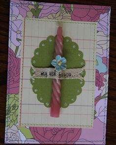 My wish for you...pink. $3.00, via Etsy. greet card