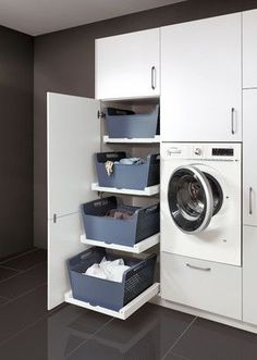 Plan a utility room and put it into practice - .- Plan a utility room and furnish it practically – kitchen & Co Source by sophiecapek - Laundry Room Layouts, Small Laundry Rooms, Laundry Room Organization, Laundry In Bathroom, Organization Ideas, Laundry Area, Utility Room Designs, Laundry Room Inspiration, Laundry Room Design