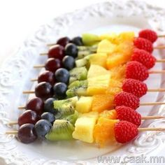 Fruit Kabobs. Fun idea for kids to eat and make. Brought to you Play Tiki Toss!   Playtikitoss.com  #backyardgames #kidgames #indoorgames #games #tiki #bbqgames #beach #ocean #surfboard #surf #bar #islands #hawaii #fun #addicting