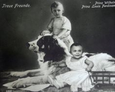 Antique royalty photo postcard, princes with dog, Nanny Dog, Black And White Dog, Dogs And Kids, Puppy Mills, Vintage Dog, Photo Postcards, Dog Photos, Puppy Love, Royalty