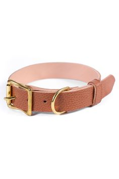Free Id, Personalized Dog Collars, Leather Apron, Leather Dog Collars, Brass Buckle, Id Tag, Dog Gifts, Solid Brass, Brown Leather
