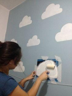 Cloud Baby Room: 15 decorating ideas for the newcomer .- Cloud Baby Room: 15 Deko-Ideen für den Newcomer … – # Baby …, Cloud Baby Room: 15 decorating ideas for the newcomer … – # … - Baby Bedroom, Baby Boy Rooms, Baby Room Decor, Nursery Room, Girls Bedroom, Room Baby, Dream Bedroom, Bed Room, Kids Bedroom Paint