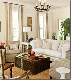 Beautiful neutral living room. Southern Living's 2012 Idea House