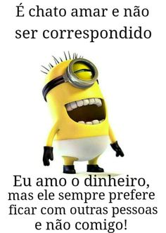 Chato amar sem ser correspondido... How To Start Running, How To Run Faster, Minions Quotes, Good Jokes, Perfect For Me, Im Happy, Haha, Messages, Funny