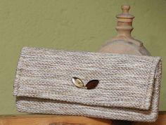 Beige bag  unique handbag  handwoven bag  by VeselinkaHandmade
