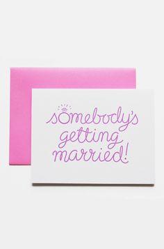 Engagement Card Wedding Congratulations Card