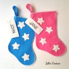Your place to buy and sell all things handmade Mini Christmas Stockings, Mini Stockings, Father's Day Unique Gifts, Holiday Gifts, Christmas Gifts, Baby Stocking, Handmade Shop, Handmade Gifts, Felt Gifts