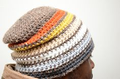Grizzly,  Men's hat Pattern. - love the color combo! And I think it would perfectly fit me.