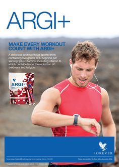 Walk into the gym with the assurance to perform with Argi+. #MakeItCount