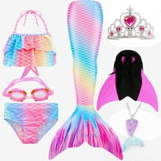 Pink Mermaid Tail, Monofin Mermaid Tail, Mermaid Tails For Kids, Realistic Mermaid Tails, Little Girl Mermaid Costume, Mermaid Tail Costume, Mermaid Swimming, Kids Swimming, Kids Outfits Girls