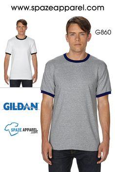 #crewneck #dryblend #tshirt Gildan G860 DryBlend 5.6 oz. Ringer T-Shirt