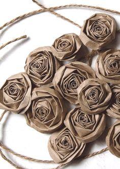 Brown paper roses.