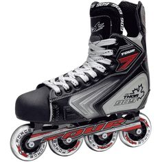 Designed with a customized ankle support, the Tour Hockey Thor 909 Inline Skate delivers the comfort you need to get through a long practice or game. These skates are designed with EVA padding with a quick-drying lining that keeps you cool when the action heats up.