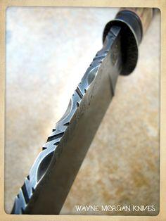 Some more filework - Wayne Morgan Knives.
