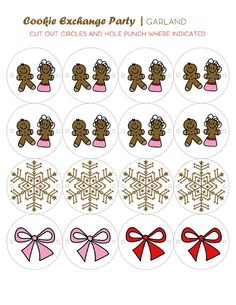 Host A Christmas Cookie Exchange Party – FREE Printables!