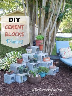 This DIY Cement Blocks plant shelf is easy to make and is a great way to showcase my succulent and cacti plant pots See the project here http://thegardeningcook.com/diy-cement-blocks-plant-shelf/