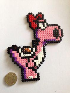 Mario birdo hama bead art nintendo perler fuse beads by Otakubizu, £3.25
