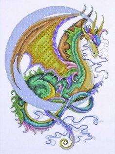 Celestial Dragon Cross Stitch Kit £31.00   Past Impressions   Design Works