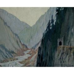 Canadian Pacific Rockies 1900 Fraser Canyon Canvas Art - CW Simpson (18 x 24)