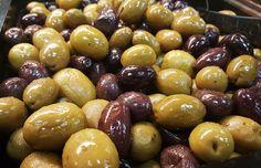 Olives, Grêlé, Gigante, Sevillano, Méditerranée, Salade